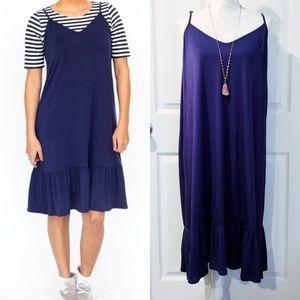NWT AGNES & Dora Slip Dress in Navy